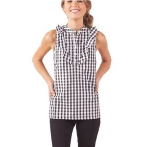Mudpie black and white checked top!
